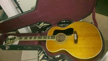 Guild Acoustic in for a bridge reglue