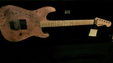 Rick Di Fanzo brought over some cool old guitars. Schecter with a stra head 80s