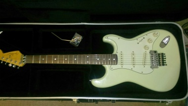 Rick's Strat in for a Floyd Rose install