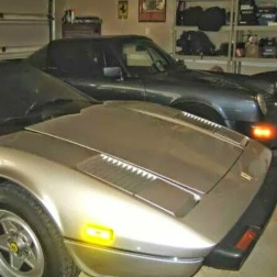 Ok this is not my guitar but it is my father's cars a Ferarri and a Porsche 911 Targa