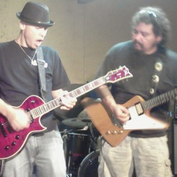 Tim Rossi and Rex Bongo in rehearsal #blackfoot #timrossi