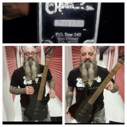 Kirk from Down, Kings of sorrow, crowbar. He wasn't here but that is a vintage Charvel so its' here.
