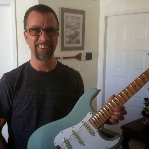 This is a sonic blue Yngwie Strat and Tony